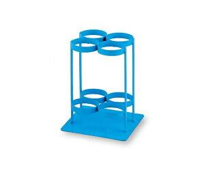 酸素ボンベスタンド 280×280×370mm TM-S-504 ブルー 1台