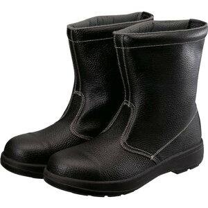 シモン 2層ウレタン底安全半長靴 27.5cm ブラック 1足