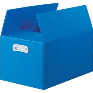 TRUSCO ダンボールプラスチックケース 5枚セット 果物箱サイズ 取っ手穴なし ブルー 1S