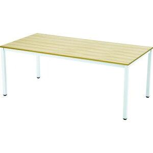 TRUSCO ミーティングテーブル W1800xD900 ナチュラル天板X白脚 1台