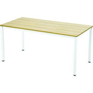 TRUSCO ミーティングテーブル W1500xD750 ナチュラル天板X白脚 1台
