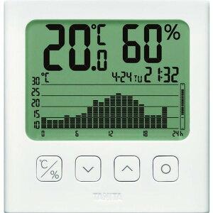 TANITA グラフ付きデジタル温湿度計 白色 1台 (TT-581)