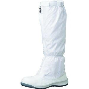 ミドリ安全 トウガード付 静電安全靴 GCR1200 フルCAP フード ホワイト 27.0cm 1足
