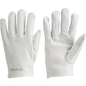 TRUSCO 袖なし革手袋 クレスト牛革製 フリーサイズ ホワイト 1双 (TYK-KW)