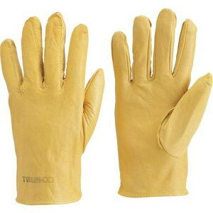 TRUSCO 袖なし革手袋 クレスト牛革製 フリーサイズ イエロー 1双 (TYK-KY)