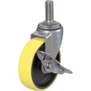 TRUSCO ねじ込み帯電防止ウレタンキャスタースチール金具 自在S付Φ100 1個