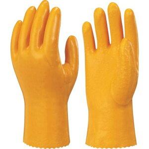 ショーワ 塩化ビニール手袋(裏布付) No40作業用手袋ハイロン#40 イエロー LLサイズ 1双 (NO40-LL)