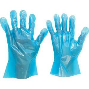 ミドリ安全 ポリエチレン使い捨て手袋 外エンボス 青 S (200枚入) 1箱 (VERTE-576-S)