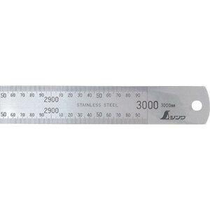 シンワ 直尺ステン3000mm 1本 (14079)