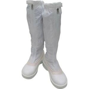 ゴールドウイン 静電安全靴ファスナー付ロングブーツ ホワイト 26.5cm 1足