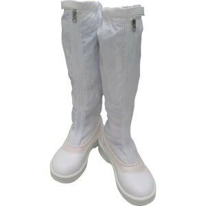 ゴールドウイン 静電安全靴ファスナー付ロングブーツ ホワイト 27.0cm 1足