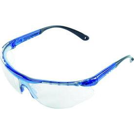 TRUSCO 二眼型セーフティグラス (フィットタイプ) ブルー 1個