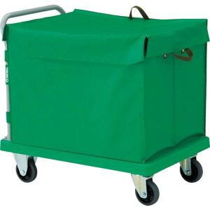 TRUSCO 樹脂台車 グランカート 蓋付ハンドトラックボックス付 900X605 1台 (TP-902-THB)