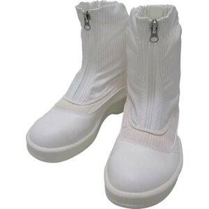 ゴールドウイン 静電安全靴セミロングブーツ ホワイト 25.0cm 1足