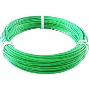 TRUSCO カラー針金 ビニール被覆タイプ 2.0mmX25m 緑 1巻