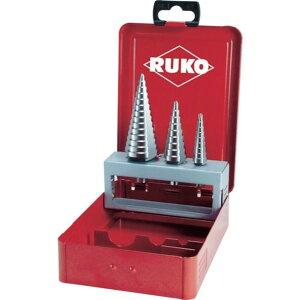 RUKO 3枚刃ステップドリル 3本組セット 1S