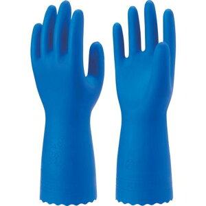 ショーワ 塩化ビニール手袋 ブルーフィット(薄手)3双パック Lサイズ 1袋 (NO181-L3P)