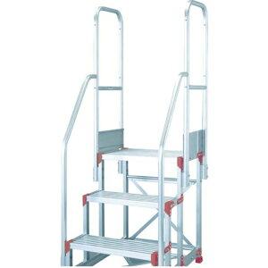 ピカ 作業台用手すりZG−TE型 階段両手すり天場二方 3・4段用 1S