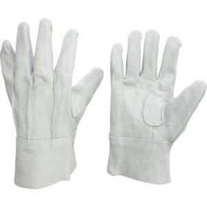 ミドリ安全 牛床革手袋 外縫 MT−152D−W 1双 (MT-152D-W)