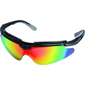 OTOS 一眼型保護メガネ(スポーツタイプ)レインボーレンズ フレーム黒色 1個 (B-810XRO)