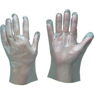 トワロン 使い捨て手袋 ポリエチレン手袋 内エンボス S (100枚入) 1箱 (409-S)