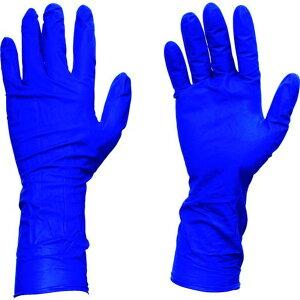 TRUSCO 使い捨て天然ゴム手袋TGプロテクト 0.20 粉無青S 50枚 1箱
