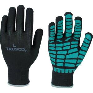 TRUSCO すべり止め天然ゴム手袋 グリーン S 1双