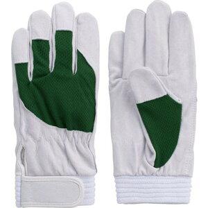 富士グローブ 豚本革手袋 F−505 アスリート グリーンLL 1双 (5889)