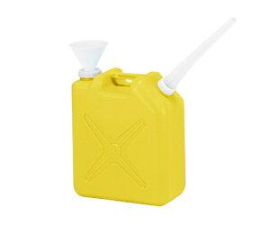 廃液回収容器角型 黄 20L ノズル・ロート付 1個