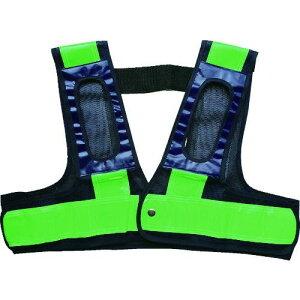 ミズケイ フルハーネス用安全ベスト「装着できるんです」<紺/緑> 1枚 (5941107)