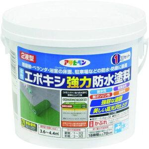 アサヒペン 水性エポキシ強力防水塗料 1KGセット ライトグレー 1缶