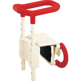 ○高さ調節付浴槽手すり UST-130 レッド536-600