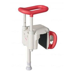 ユニットバス対応浴槽手すりUST-130UBショート レッド536-640