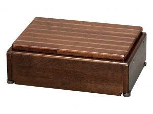 アロン化成 木製玄関台 S45W-30-1段 ブラウン