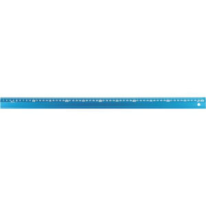 シンワ アルミ直尺 アル助60cm シャイニングブルー 1本