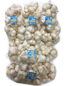 にんにく 青森県産 「ホワイト六片にんにく」 業務用にんにくMサイズ10kg 2020年新物 産地直送 送料無料