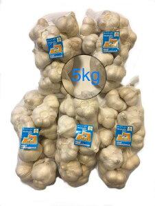 にんにく 青森県産 「ホワイト六片にんにく」 業務用にんにくLサイズ5kg 産地直送 送料無料