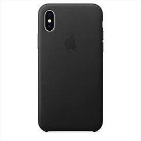 Apple(アップル)純正 iPhone X(5.8インチ)レザーケース ブラック MQTD2FE/A MQTD2FEA