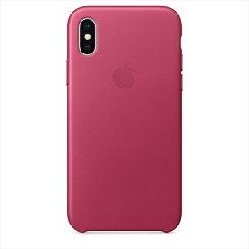 Apple(アップル)純正 iPhone X(5.8インチ)レザーケース ピンクフクシア MQTJ2FE/A MQTJ2FEA