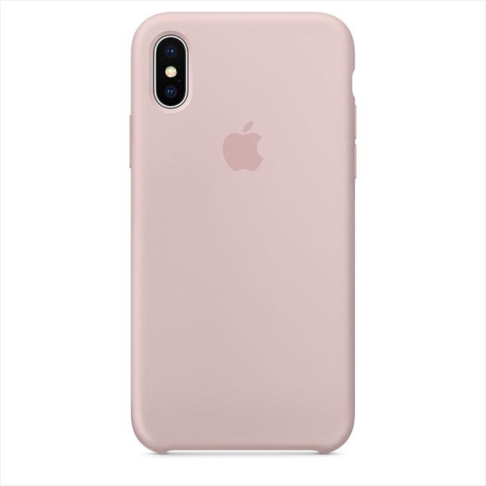 【当店全品エントリーでポイント10倍】Apple(アップル)純正 iPhone X(5.8インチ)シリコーンケース ピンクサンド MQT62FE/A MQT62FEA
