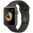 アップルウォッチ 本体 Apple Watch Series 3 38mm スペースグレイアルミニウムケースとブラックスポーツバンド シリーズ3 (GPSモデル)…