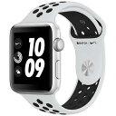 アップルウォッチ 本体 ナイキ Apple Watch Series 3 Nike+ 38mm シルバーアルミニウムケースとピュアプラチナム/ブラックNikeスポーツ…