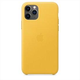Apple(アップル)純正 iPhone 11 Pro(5.8インチ)レザーケース マイヤーレモン 本革 保護ケース MWYA2FE/A