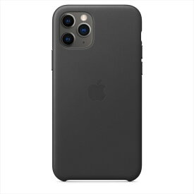 Apple(アップル)純正 iPhone 11 Pro(5.8インチ)レザーケース ブラック 本革 保護ケース 国内正規品 MWYE2FE/A
