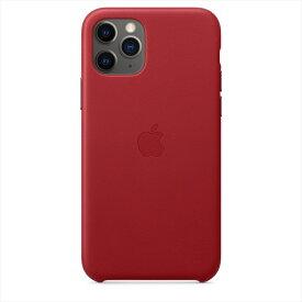 Apple(アップル)純正 iPhone 11 Pro(5.8インチ)レザーケース (PRODUCT)RED レッド 本革 保護ケース MWYF2FE/A