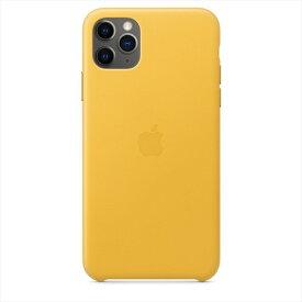 Apple(アップル)純正 iPhone 11 Pro Max(6.5インチ)レザーケース マイヤーレモン 本革 保護ケース MX0A2FE/A