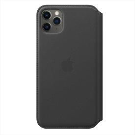 Apple(アップル)純正 iPhone 11 Pro Max(6.5インチ)レザーフォリオ ブラック 手帳型 本革 保護ケース MX082FE/A