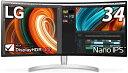 LG 34インチ 曲面型 1900R Nano IPS DisplayHDR400 ノングレア RADEON FreeSync ウルトラワイドゲーミングモニター ホ…