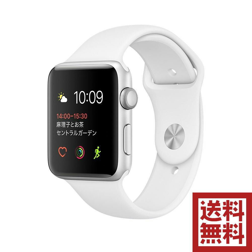 アップルウォッチ 本体 Apple Watch Series 1 42mm シルバーアルミニウムケースとホワイトスポーツバンド MNNL2J/A