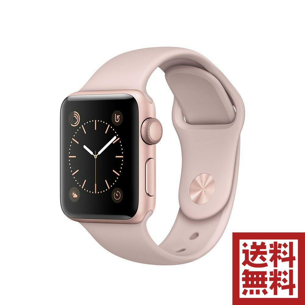 アップルウォッチ 本体 Apple Watch Series 1 38mm ローズゴールドアルミニウムケースとピンクサンドスポーツバンド MNNH2J/A